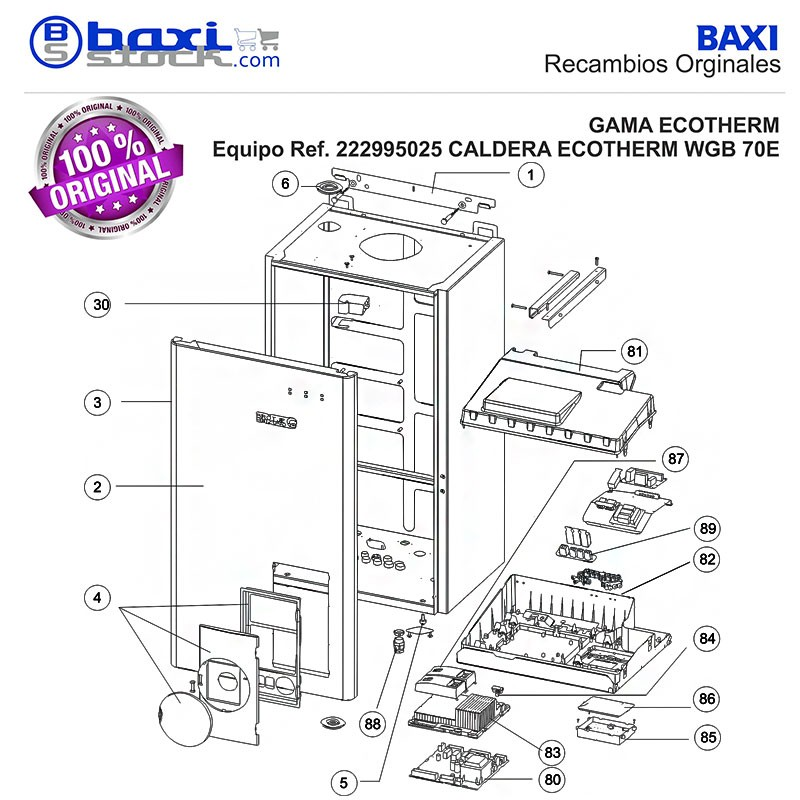 Recambio original baxi roca cierre regulable tapa for Roca victoria 20 20f