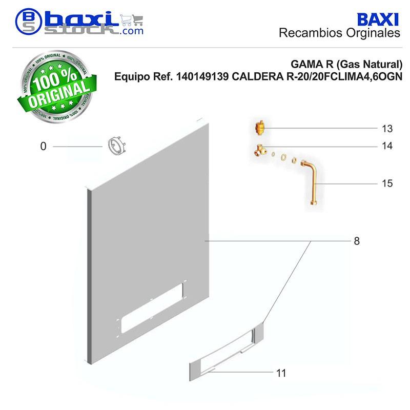 Recambio original baxi roca tubo conexi n dep sito de for Deposito de expansion