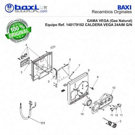 Recambio original baxi roca selector calefacci n roca vega for Roca calefaccion