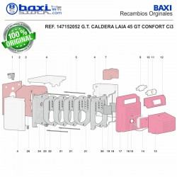 TUBO IDA SUPERIOR LAIA 45 GTA CONFORT