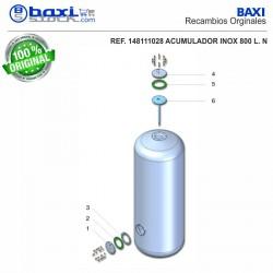 CONTRABRIDA ACUMULADOR 800-1000 I INOX