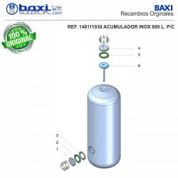TAPA BOCA LATERAL ACUMULADOR 800-1000 I/PC INOX