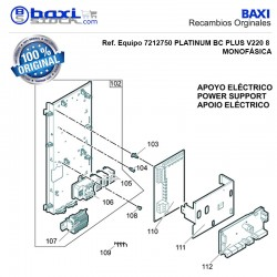 PANEL SUPERIOR BOMBA CALOR BC PLUS