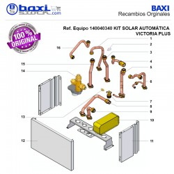 TUBO INTERCAMBIADOR-CALDERA KIT SOLAR VICTORIA PLUS