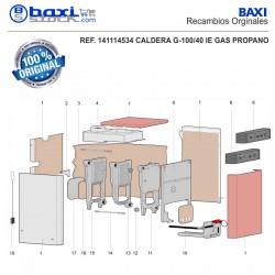 CABLE CONEXIÓN LINEA DE GAS G100/30-40