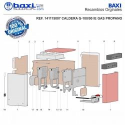 CABLE CONEXIÓN LINEA DE GAS G100/70-2-90-110