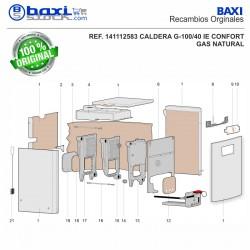 CABLE CONEXIÓN LINEA DE GAS G100 CONFORT