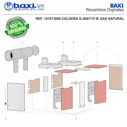 CONDUCTO SALIDA HUMOS G400/175-215