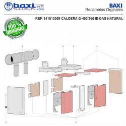CONDUCTO SALIDA HUMOS G400/260-325