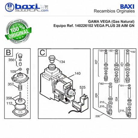 VÁLVULA DE GAS (SIT 845063 SIGMA) ALTAIS